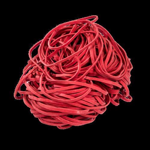 Gumki Recepturki Czerwone, Grubość 3/1,5mm