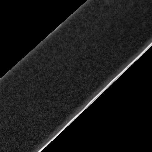 Rzep Samoprzylepny (Pętelka) 25mb, Klej Akryl - Czarny