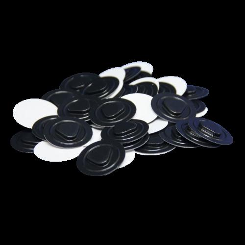 Mocowanie Płyt CD/DVD z PVC, Czarne - 1000szt