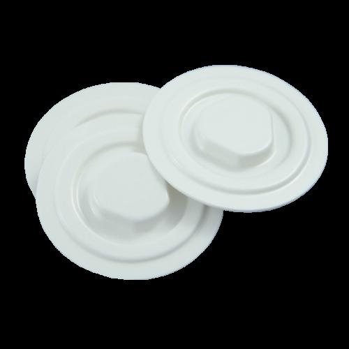 Mocowanie Płyt CD/DVD z PVC, Białe - 1000szt