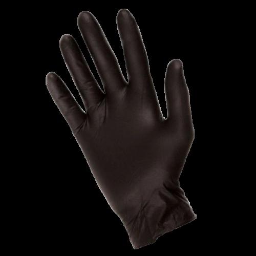 Rękawice Nitrylowe Diagnostyczne, Bezpudrowe Czarne - 100szt