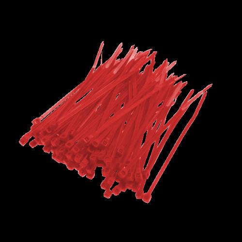Opaska Zaciskowa Czerwona - 100szt